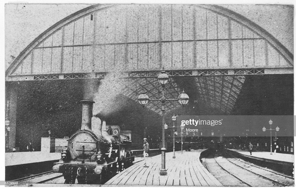 South Eastern Railway engine pulling out of Waterloo Station London
