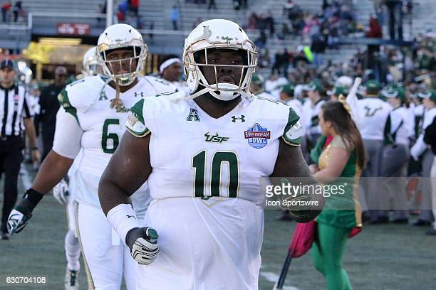 South Florida Bulls defensive tackle Deadrin Senat during the Birmingham Bowl between the South Carolina Gamecocks and the South Florida Bulls on...