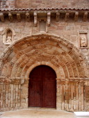 South gate of the church of Santa Maria in Atienza late Romanesque style and has a profusion of sculptures on the arches being able to count up to 81...