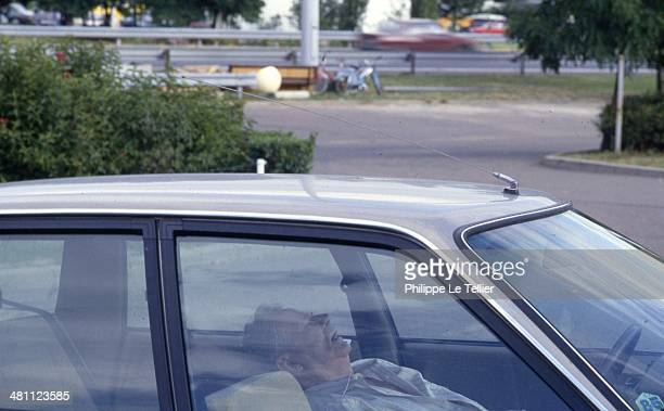 South Highway men sleeping in a car France 1985