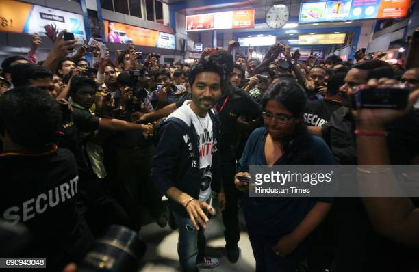South Indian film actor Dhanush the singer of famous song Why thid Kolaveri Di at Churchgate Station evening