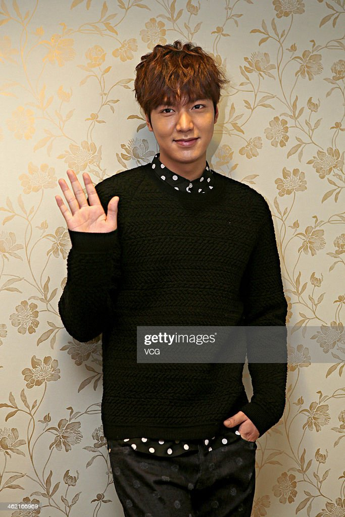 South Koean actor Lee Min-ho attends a press conference at Shangri-La Hotel on January 11, 2014 in Wuhan, China.