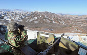 South Korea A South Korean soldier stands guard near the military demarcation line with North Korea on Dec 19 2011 North Korea said the same day its...