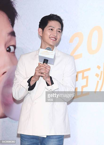 South Korea actor Song Joong Ki attends fan meeting Asian tour on June 24 2016 in Taipei Taiwan of China