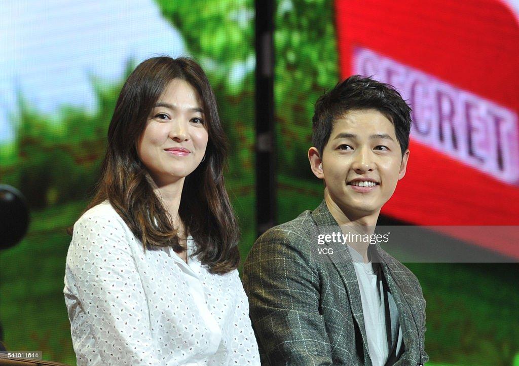 Song Hye Kyo And Song Joong-ki Attend Fan Meeting In Chengdu