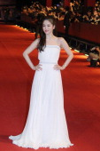 South Korea actress Song Hyekyo walks the red carpet at the 17th Shanghai International Film Festival on June 14 2014 in Shanghai China