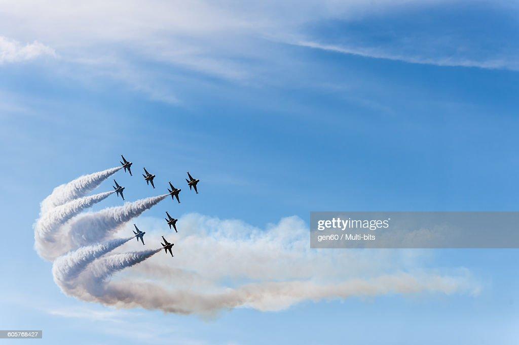 South Korea Black Eagle airshow, flight rotation