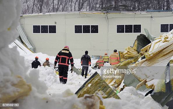 GYEONGJU South Korea Firefighters take part in a rescue operation in Gyeongju South Korea on Feb 18 at the site where the roof of a gymnasium...