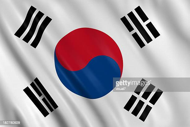 South korean flag stock photos and pictures getty images - Picture of a korean flag ...