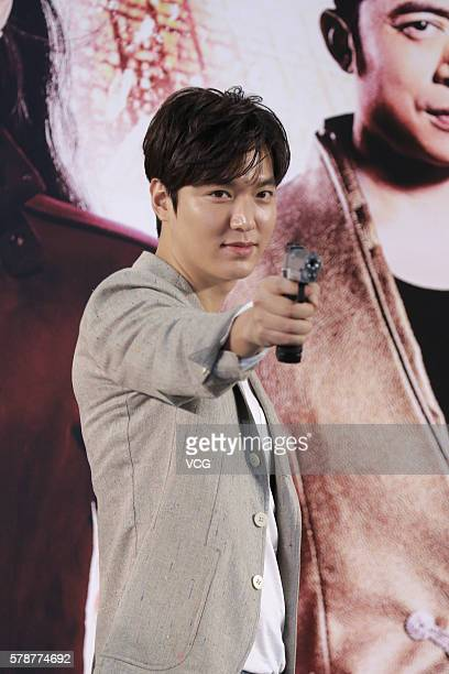 South Korea model and actor Lee Min Ho promotes new movie 'Bounty Hunters' on July 22 2016 in Hong Kong China