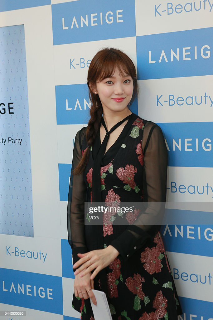 South Korea model and actress Lee Sung Kyung attends a commercial activity of Laneige on July 1, 2016 in Hong Kong, China.