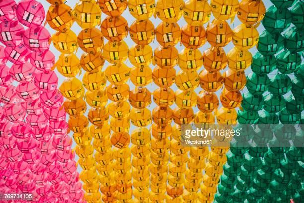 South Korea, Seoul, Colorful lanterns at Jogyesa Temple