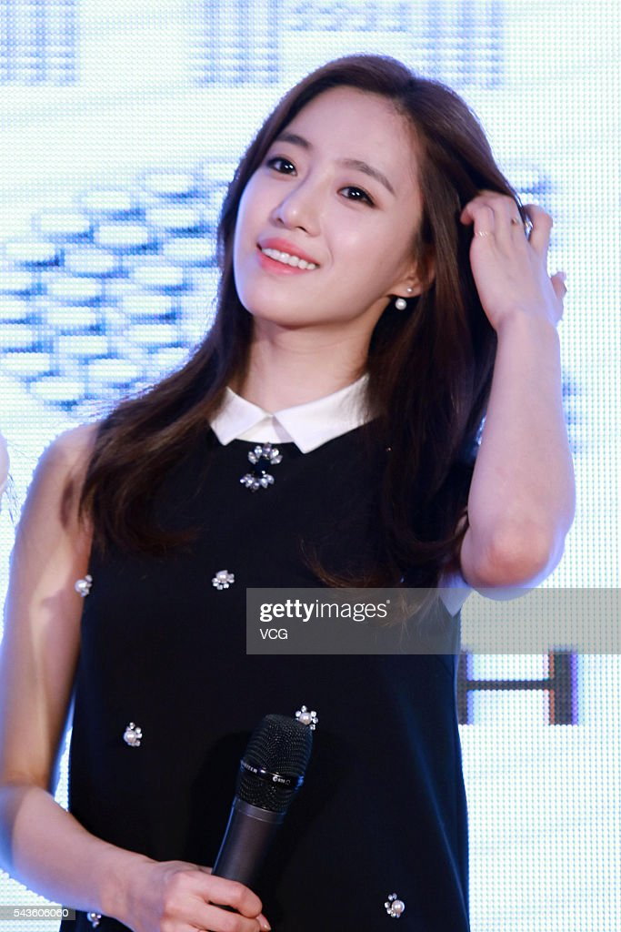 South Korea singer Hahm Eun Jung of girls group T-ara attends a press conference of South Korea SBS (Seoul Broadcasting System) on June 29, 2016 in Beijing, China.