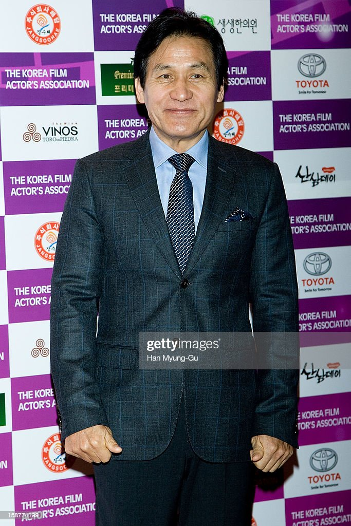 South Korean actor Ahn Sung-Ki attends the Year End Party hosted by The Korea Film Actor's Association at Lotte Hotel on December 28, 2012 in Seoul, South Korea.