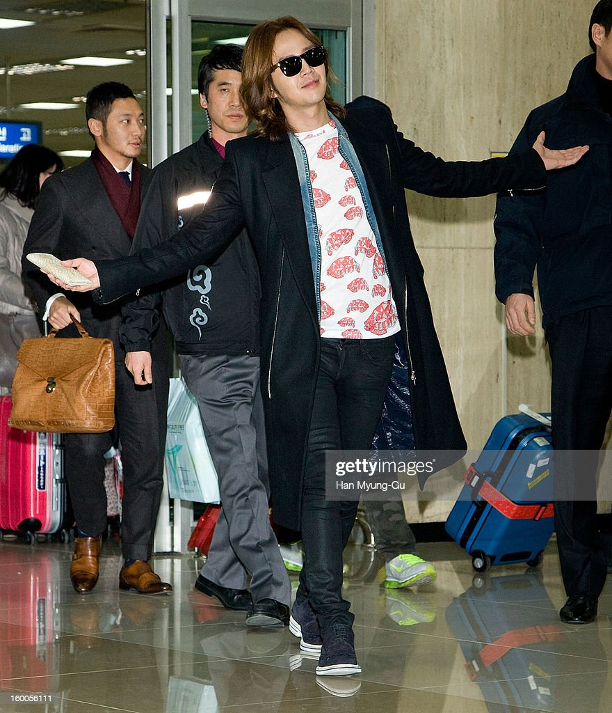 South Korean actor and singer Jang Keun-Suk is seen at Gimpo International Airport on January 25, 2013 in Seoul, South Korea.