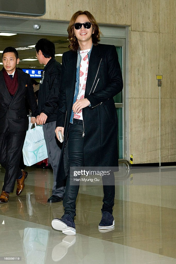 South Korean actor and singer Jang Keun-Suk is seen at Gimpo International Airport on January 25, 2013 in Seoul, South Korea.