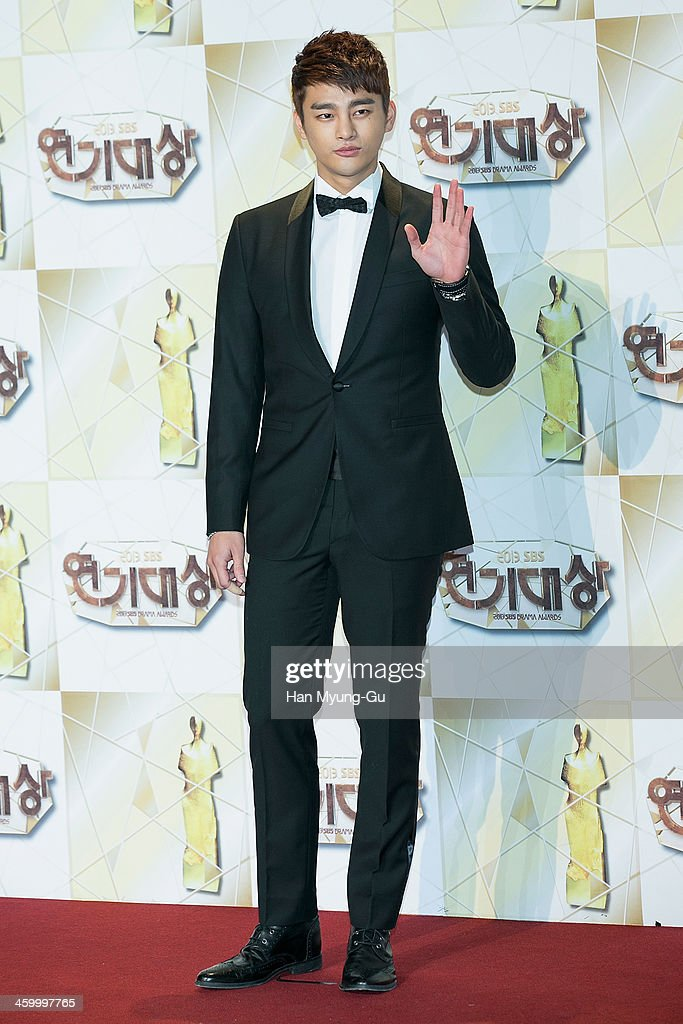 South Korean actor and singer <a gi-track='captionPersonalityLinkClicked' href=/galleries/search?phrase=Seo+In-Guk&family=editorial&specificpeople=7774033 ng-click='$event.stopPropagation()'>Seo In-Guk</a> attends the 2013 SBS Drama Awards at SBS on December 31, 2013 in Seoul, South Korea.