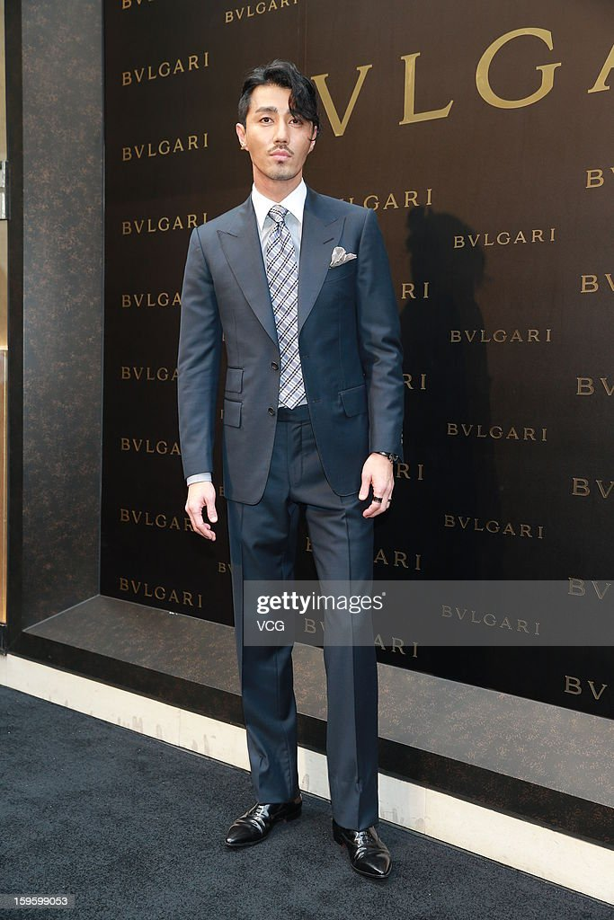 South Korean actor Cha Seung-won attends Bulgari store opening ceremony on January 17, 2013 in Hong Kong, Hong Kong.