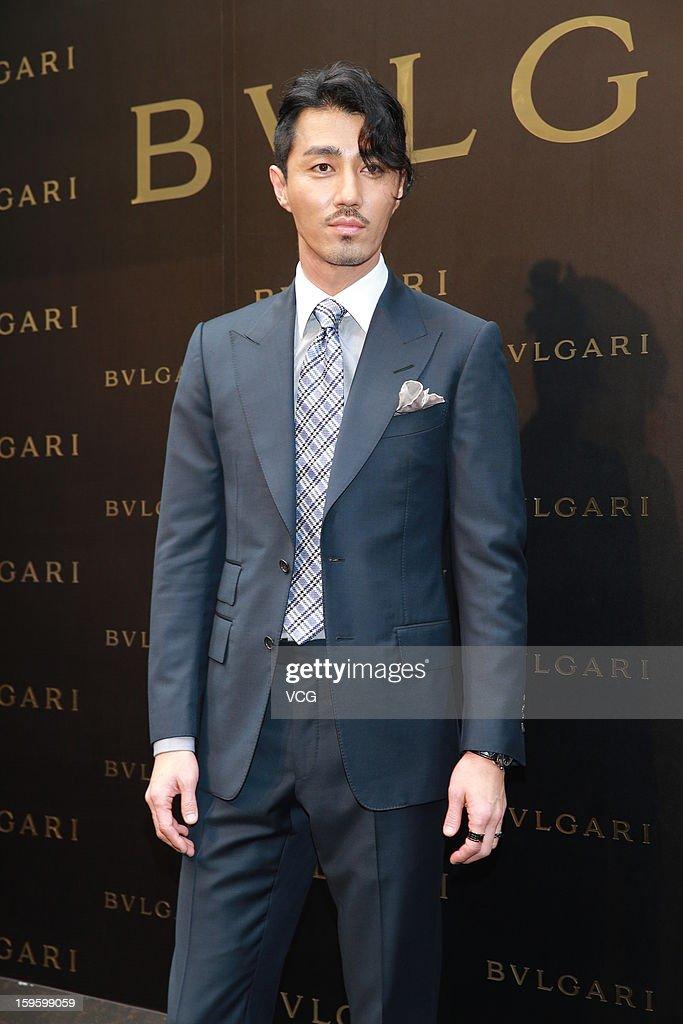 South Korean actor Cha Seung-won attends Bulgari store opening ceremony on January 17, 2013 in Hong Kong, Hong Kong.