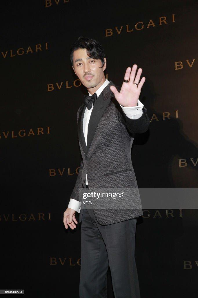 South Korean actor Cha Seung-won attends Bulgari store opening reception on January 17, 2013 in Hong Kong, Hong Kong.