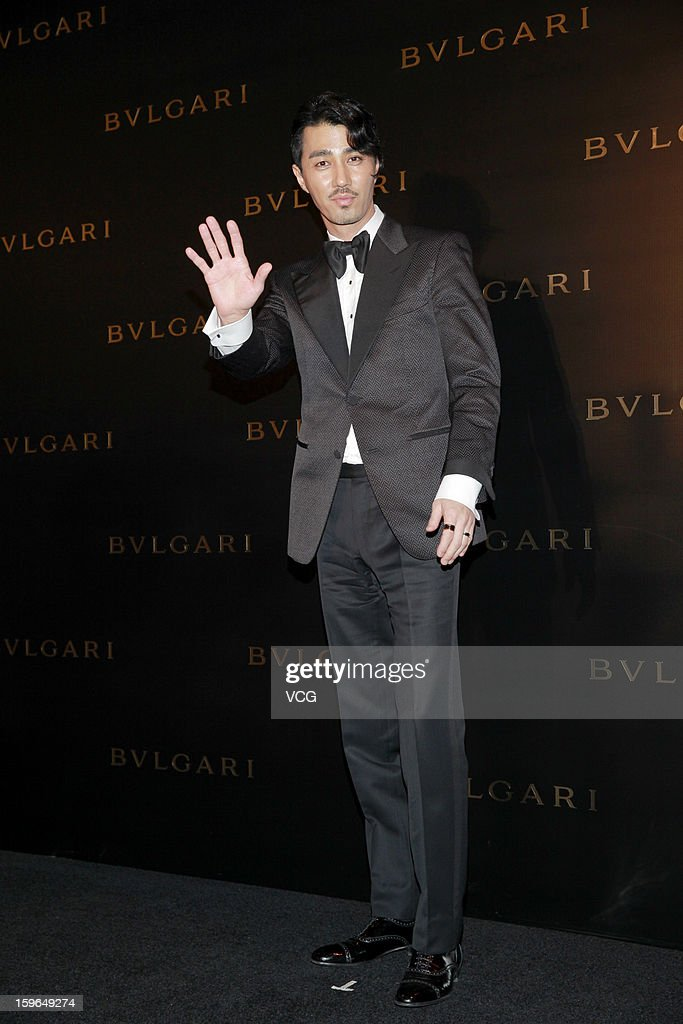 South Korean actor Cha Seung-won attends Bulgari store opening reception on January 17, 2013 in Hong Kong, Hong Kong.