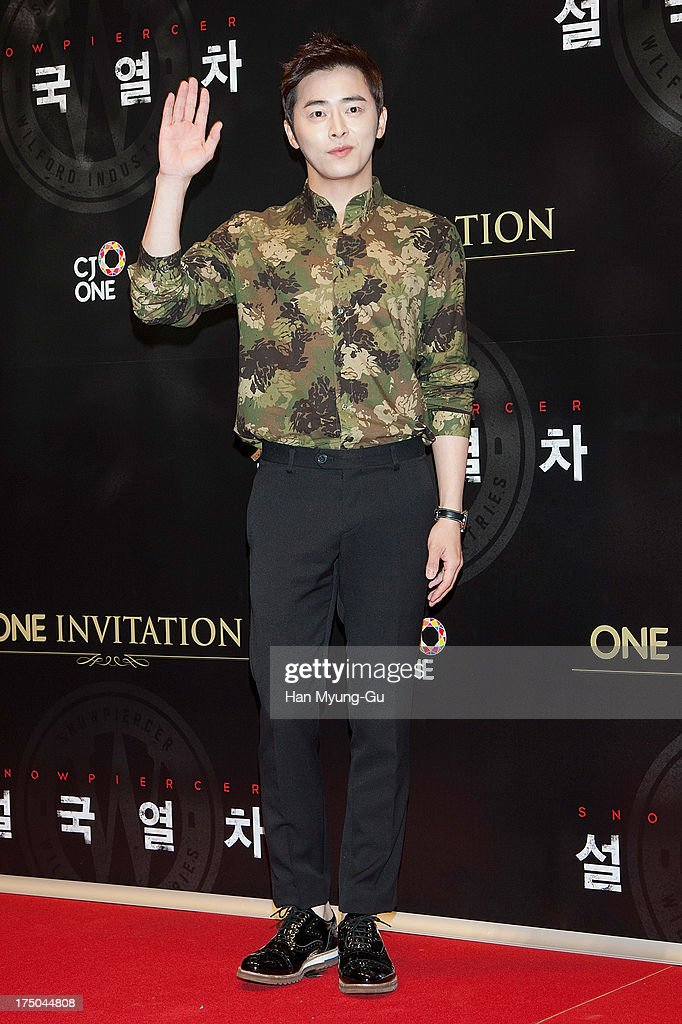 South Korean actor Cho Jung-Seok attends the 'Snowpiercer' South Korea premiere at Times Square on July 29, 2013 in Seoul, South Korea. The film will open on August 1, in South Korea.