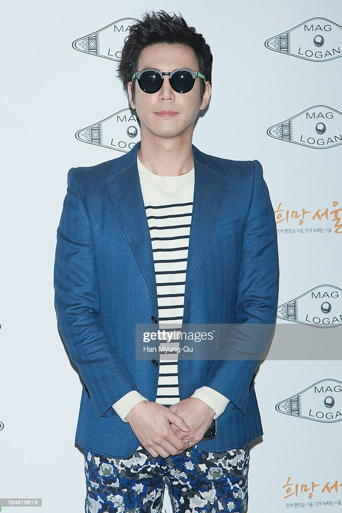 South Korean actor Choi Won-Young attends during at the 'MAG AND LOGAN' show on day four of the Seoul Fashion Week F/W 2013 at IFC Seoul on March 28, 2013 in Seoul, South Korea.