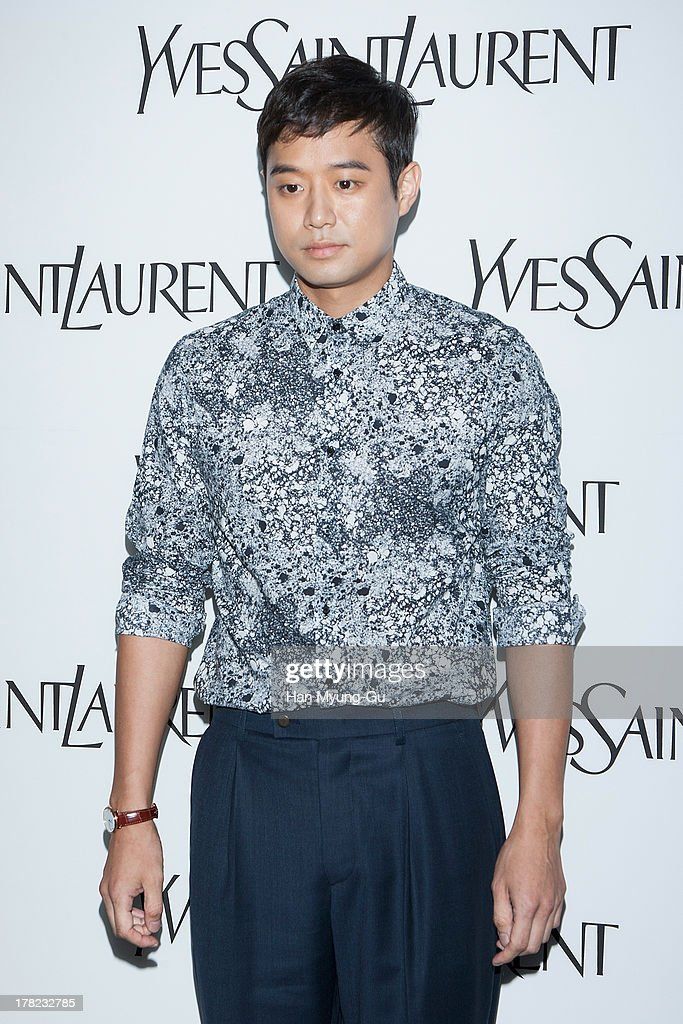 South Korean actor <a gi-track='captionPersonalityLinkClicked' href=/galleries/search?phrase=Chun+Jung-Myung&family=editorial&specificpeople=4079799 ng-click='$event.stopPropagation()'>Chun Jung-Myung</a> attends during the 'Forever Youth Liberator' launch party hosted by Yves Saint Laurent Skin Care at the Cais Gallery on August 27, 2013 in Seoul, South Korea.