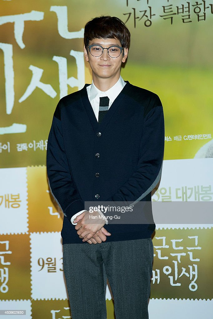South Korean actor Gang Dong-Won attends the press screening of 'My Brilliant Life' at CGV on August 21, 2014 in Seoul, South Korea. The film will open on September 03, in South Korea.
