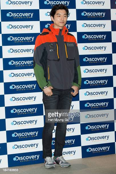 South Korean actor Gong Yoo attends a promotional event for The 'Discovery Expedition' 1st Anniversary Celebration and Concept Store Opening at FF...