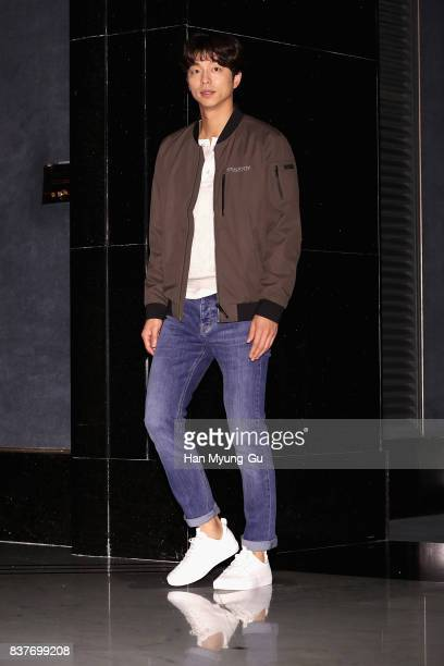 South Korean actor Gong Yoo attends the 'Discovery Expedition' I Am A Discoverer Brand Showcase on August 23 2017 in Seoul South Korea