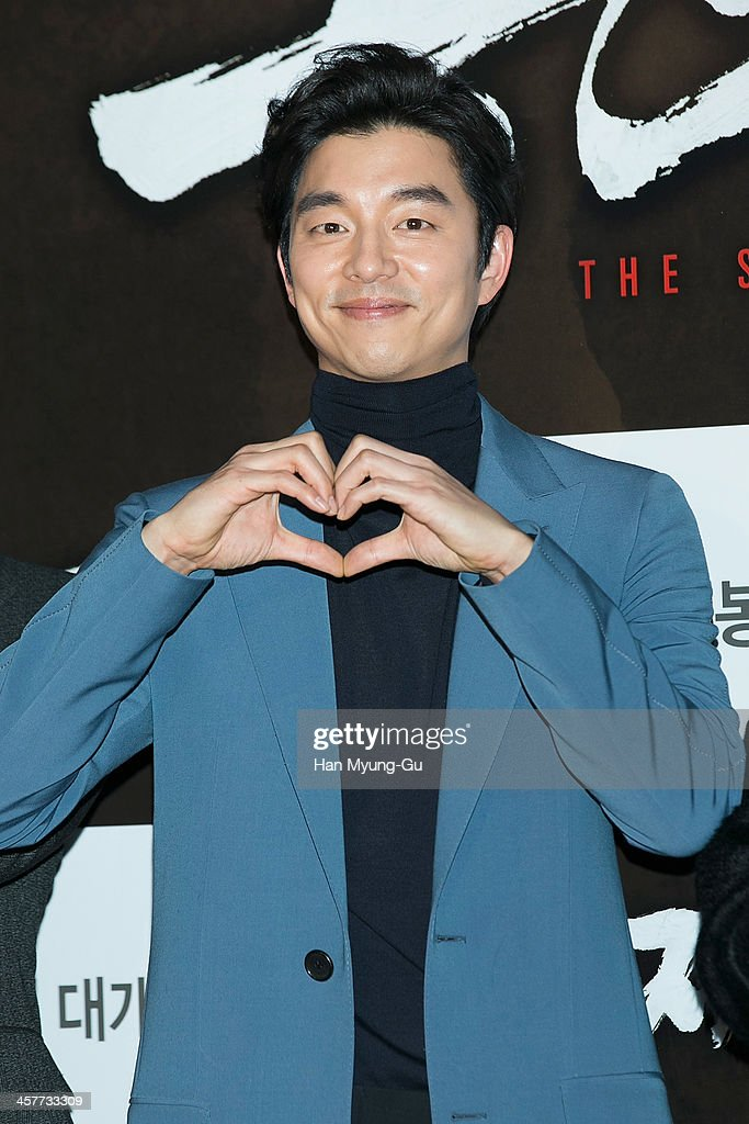 South Korean actor <a gi-track='captionPersonalityLinkClicked' href=/galleries/search?phrase=Gong+Yoo&family=editorial&specificpeople=7406310 ng-click='$event.stopPropagation()'>Gong Yoo</a> attends 'The Suspect' VIP screening at COEX Mega Box on December 17, 2013 in Seoul, South Korea. The film will open on December 24, in South Korea.