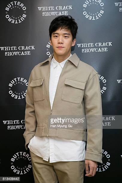 South Korean actor Ha SeokJin aka Ha SukJin attends the photocall for 'BUTTERO' 2016 S/S White Crack on February 26 2016 in Seoul South Korea
