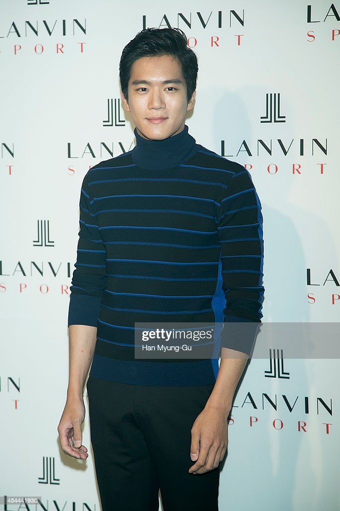 South Korean actor Ha Seok-Jin (Ha Suk-Jin) attends 'Lanvin Sport' FW 2014 Grand Open on August 29, 2014 in Seoul, South Korea.