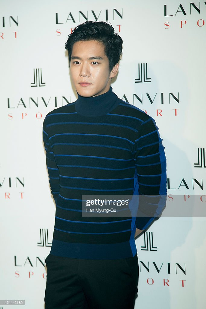South Korean actor <a gi-track='captionPersonalityLinkClicked' href=/galleries/search?phrase=Ha+Seok-Jin&family=editorial&specificpeople=4525580 ng-click='$event.stopPropagation()'>Ha Seok-Jin</a> (Ha Suk-Jin) attends 'Lanvin Sport' FW 2014 Grand Open on August 29, 2014 in Seoul, South Korea.