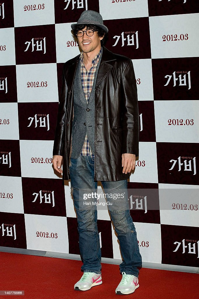 South Korean actor Han Jung-Su attends the 'Gabi' (Coffee) VIP Premiere at CGV on March 06, 2012 in Seoul, South Korea. The film will open on March 15 in South Korea.