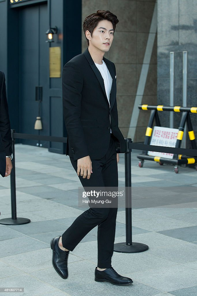South Korean actor <a gi-track='captionPersonalityLinkClicked' href=/galleries/search?phrase=Hong+Jong-Hyun&family=editorial&specificpeople=7496548 ng-click='$event.stopPropagation()'>Hong Jong-Hyun</a> attends Kyungdong 'Star Jade' Opening Party on June 27, 2014 in Busan, South Korea.