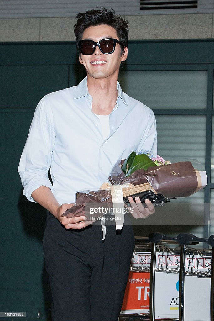 South Korean actor Hyun Bin is seen upon arrival at Incheon International Airport on May 5, 2013 in Incheon, South Korea.