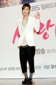South Korean actor Jang GeunSuk attends a press conference to promote KBS drama 'Love Rain' at Lotte Hotel on March 22 2012 in Seoul South Korea The...