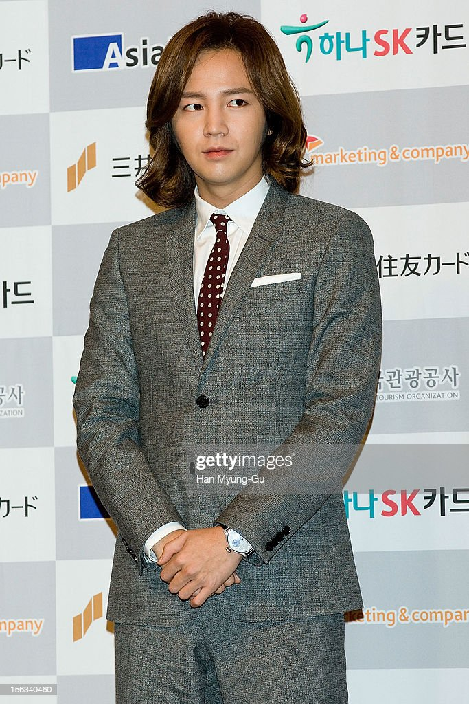 South Korean actor Jang Keun-Suk attends during the promotional event of 'Mitsui Sumitomo Card' Korea Travel Prepaid at Lotte Hotel on November 13, 2012 in Seoul, South Korea.
