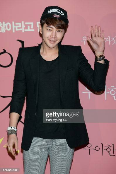 South Korean actor Jang KeunSuk attends 'Threads Of Lies' VIP Screening at CGV on March 4 2014 in Seoul South Korea The film will open on March 13 in...