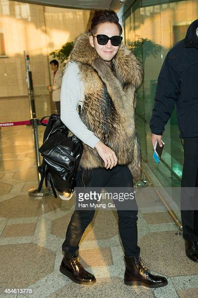 South Korean actor Jang KeunSuk is seen on departure at Gimpo International Airport on December 10 2013 in Seoul South Korea