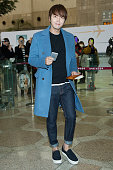South Korean actor Jang KeunSuk is seen on departure at Gimpo International Airport on March 11 2015 in Seoul South Korea