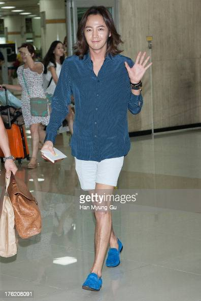 South Korean actor Jang KeunSuk is seen upon arrival at Gimpo International Airport on August 11 2013 in Seoul South Korea