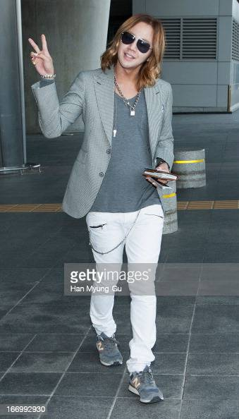 South Korean actor Jang KeunSuk is seen upon arrival at Incheon International Airport on April 19 2013 in Incheon South Korea