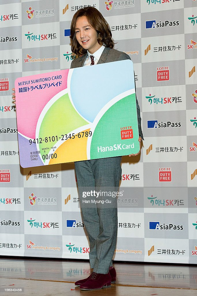 South Korean actor Jang Keun-Suk poses for media during the promotional event of 'Mitsui Sumitomo Card' Korea Travel Prepaid at Lotte Hotel on November 13, 2012 in Seoul, South Korea.