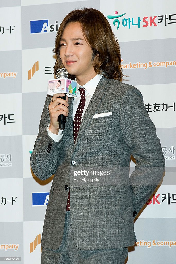 South Korean actor Jang Keun-Suk speaks during the promotional event of 'Mitsui Sumitomo Card' Korea Travel Prepaid at Lotte Hotel on November 13, 2012 in Seoul, South Korea.