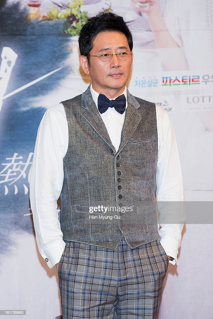South Korean actor Jeon Gwang-Ryeol attends SBS Drama 'Hot Love' press conference at 63 building on September 23, 2013 in Seoul, South Korea. The drama will open on September 28, in South Korea.