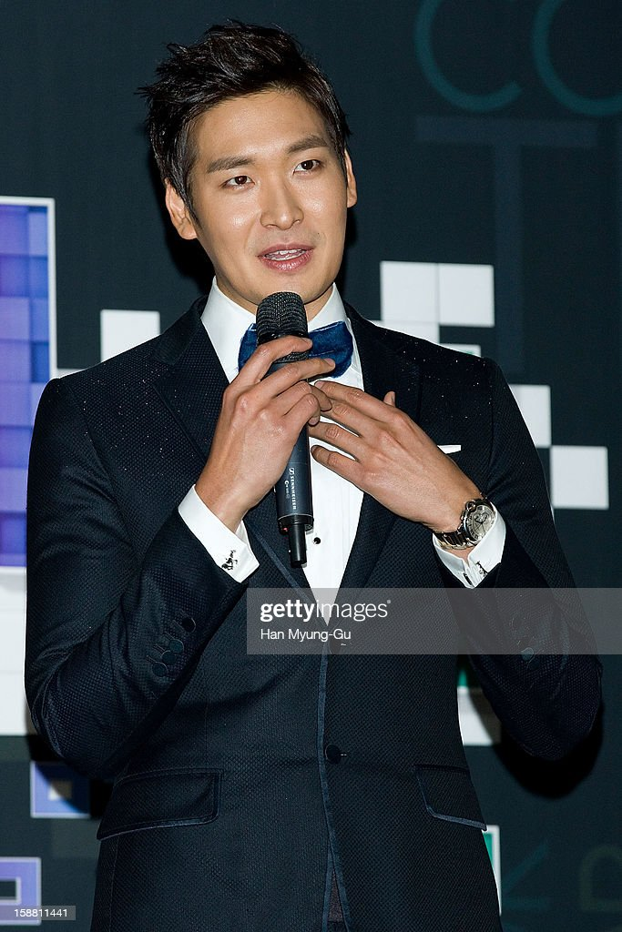 South Korean actor Jung Gyu-Woon attends the 2012 SBS Korea Pop Music Festival named 'The Color Of K-Pop' at Korea University on December 29, 2012 in Seoul, South Korea.