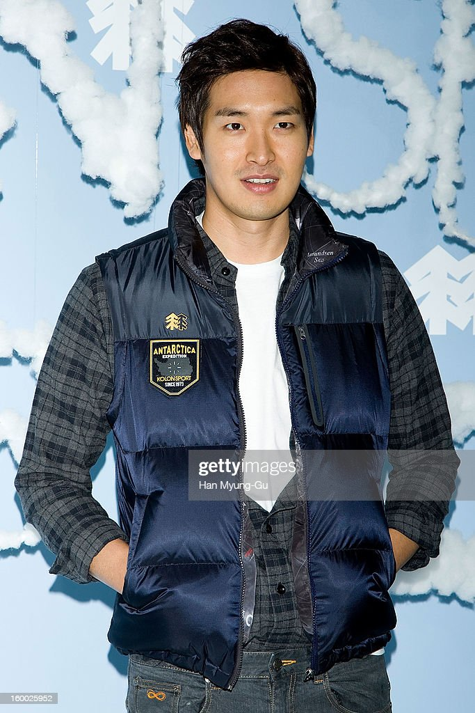 South Korean actor <a gi-track='captionPersonalityLinkClicked' href=/galleries/search?phrase=Jung+Gyu-Woon&family=editorial&specificpeople=5566061 ng-click='$event.stopPropagation()'>Jung Gyu-Woon</a> attends the 'Kolon Sport' 2013 SS Presentation on January 24, 2013 in Seoul, South Korea.
